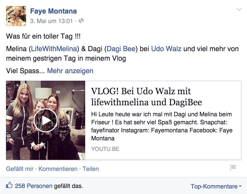 Faye Montana: Was W steht für Wideo